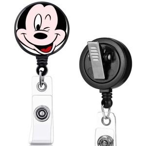 motif d'impression princesse clip rotatif boucle de traction facile télescopique boucle de certificat 3.2cm