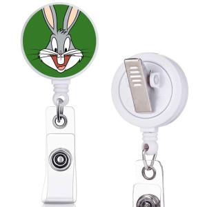 poupée princesse motif imprimé clip rotatif télescopique facile à tirer boucle certificat boucle 3.2cm