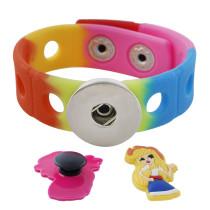 Детский детский силиконовый браслет из ПВХ, светящийся мультяшный садовый браслет, аксессуары, креативный флуоресцентный браслет, радуга