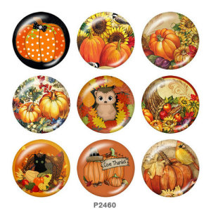 Painted metal 20mm snap buttons  Thanksgiving