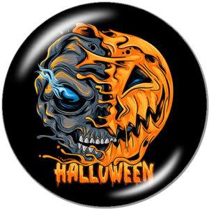 Boutons pression métal peint 20mm Licorne Chien HO HO Halloween