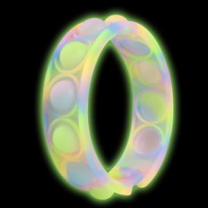 Lumineux Rongeur Pioneer Bubble Bracelet Puzzle Décompression Doigt Bracelet En Silicone Jouet Montre Bande