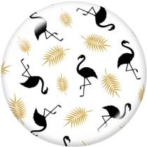 Boutons pression 20 mm en métal peint Licorne Flamingo
