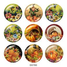 Painted metal 20mm snap buttons  Halloween  Pumpkin