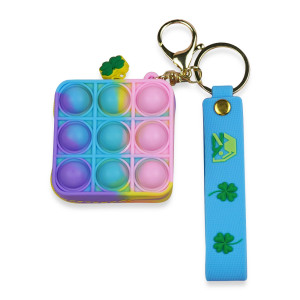 Rodent Pioneer Color Silicone Coin Purse Multifunction Keychain Small Bag to Carry with You