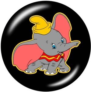 Boutons pression 20 mm en métal peint Éléphant