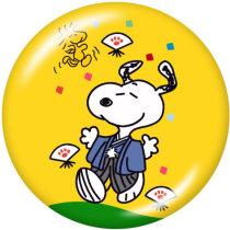 Botones a presión de metal pintado de 20 mm Snoopy Cartoon