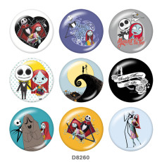Painted metal 20mm snap buttons  Halloween