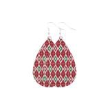Christmas elk christmas hat christmas tree Leather Earrings