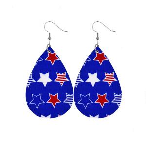 Американский флаг день победы день независимости любовь пятиконечная звезда кожаные серьги