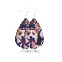Boucles d'oreilles en cuir chats et chiens