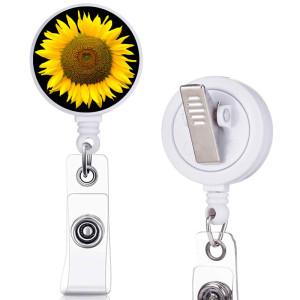Цветочный узор с принтом OHANA Поворотный зажим, телескопическая легкая пряжка, пряжка для сертификата, 3.2 см