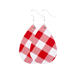 Кожаные серьги с решетчатым узором