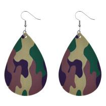 Boucles d'oreilles en cuir couleur camouflage