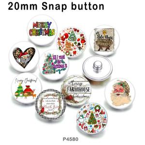 10 шт. / Лот, рождественские стеклянные изделия для печати изображений различных размеров, магнит на холодильник, кабошон