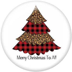 Стеклянные кнопки с принтом Christmas Believe 20 мм