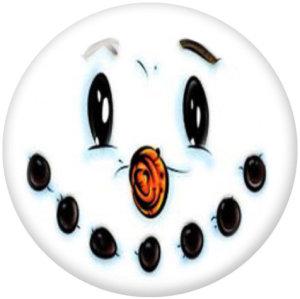Стеклянные кнопки с изображением рождественского снеговика 20 мм