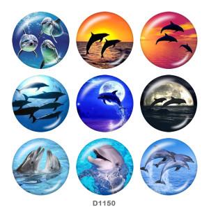20MM marine organism Beach Ocean  Print glass snaps buttons