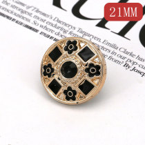 21MM  Resin, Drop oil pearl rhinestones  snap charms fit 20mm snap jewelry