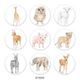 20MM Animal Print Glas-Druckknöpfe