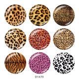 20 MM Leopardenmuster Drucken Sie die Druckknöpfe aus Glas