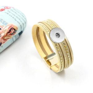 1 пуговица из кожи нового типа Браслет подходит для 20-миллиметровых кусочков с кнопками