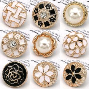 Смола 21 мм, жемчужные стразы в форме капли, подвески на кнопках, подходят для ювелирных изделий на кнопках 20 мм