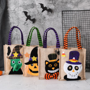 26*15CM New Halloween Gift Non-woven Tote Bag Candy Bag Ghost Festival Pumpkin Bag Decoration Prop Gift Bag