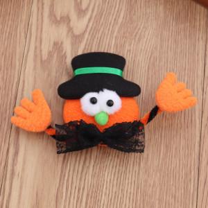 8 * 10CM Nouvelles décorations d'Halloween citrouille chauve-souris rougeoyante broche avec lumières accessoires de fête de danse arrangement de cadeau d'événement