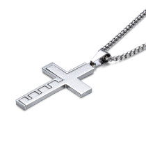 Stainless Steel Cross Necklace Pendant Jewelry