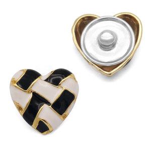 Металлические черные и белые покрытые эмалью 25 мм металлические подвески с кнопками подходят для ювелирных изделий с кнопками диаметром 20 мм