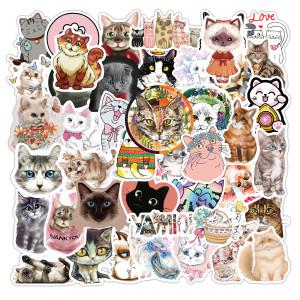 80 Vsco petit chat frais dessin animé graffiti autocollants autocollants de voiture bagages ordinateur guitare autocollants étanches