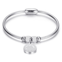 Stainless steel personalized diamond magnet buckle can open all-match women's bracelet