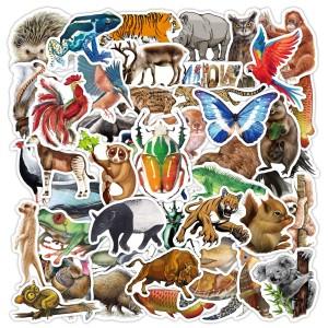 80 autocollants de graffiti d'animaux de la forêt tropicale amazonienne autocollants de valise de chariot de planche à roulettes créatifs sans contrefaçon