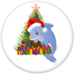 20MM Noël Elfes Deer Print boutons pressions en verre