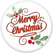 20MM Weihnachtsschneeflocke Autodruck Glasdruckknöpfe
