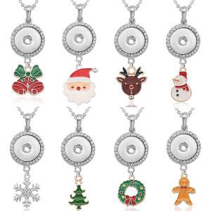 アクセサリー付きクリスマスネックレスシルバーフィット20MMチャンク50CMチェーンスナップジュエリーネックレス女性用