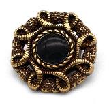 20MM de diamantes de imitación de perlas de metal de alta calidad chapados en oro encantos a presión se ajustan a la joyería a presión de 20 mm