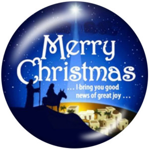Boutons pressions en verre 20MM Christmas Faith Print