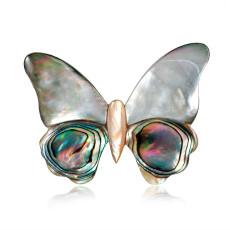 Broche Papillon Coquillage