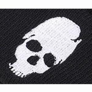 Halloween nouveau automne et hiver crâne broderie chapeau tricoté bonnet en laine fit bouton pression 18mm