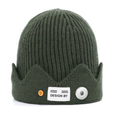 Autumn and winter UncleYao American drama  River Valley Town  American college style crown knitted woolen hat fit 18mm snap button