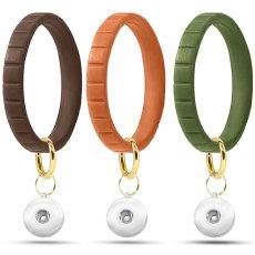 Stufenarmband Europäisches und Amerikanisches Silikonarmband Schlüsselanhänger Reine Farbe Einfaches Outdoor-Sport-Armband Schlüsselanhänger Fit Schnappverschlüsse Snaps Schmuck