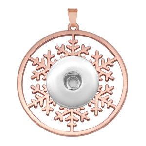 Los copos de nieve navideños encajan a presión el colgante de la astilla se ajusta a la joyería del estilo de los broches de 20 mm