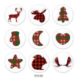 20MM Christmas Deer Print Glasdruckknöpfe