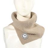 Lätzchen im neuen Stil halten im Herbst und Winter warm, geteilter Wollkragen, Schal passt 18mm Druckknopf