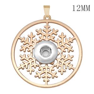 Los copos de nieve navideños encajan a presión el colgante de la astilla se ajusta a la joyería del estilo de los broches de 12 mm