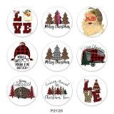 20MM Weihnachtsliebe Santa Claus Print Glasdruckknöpfe
