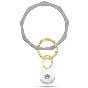 El nuevo brazalete de silicona con forma de diamante, un poderoso fabricante de llavero de brazalete de silicona, brazalete anti-perdida se ajusta a broches a presión Joyas