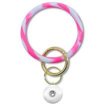 Rundes Camouflage-Silikon-Armband Schlüsselanhänger Großes Armband Autoschlüssel-Armband-Ring passend für Schnappverschlüsse Schnappverschlüsse Schmuck